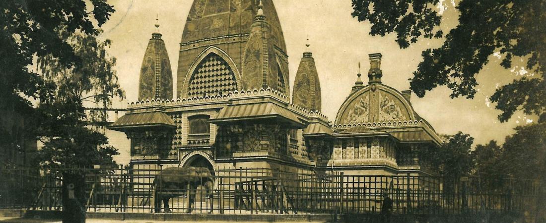 Postkarte Elefantenpagode um 1920 im Zoo Berlin